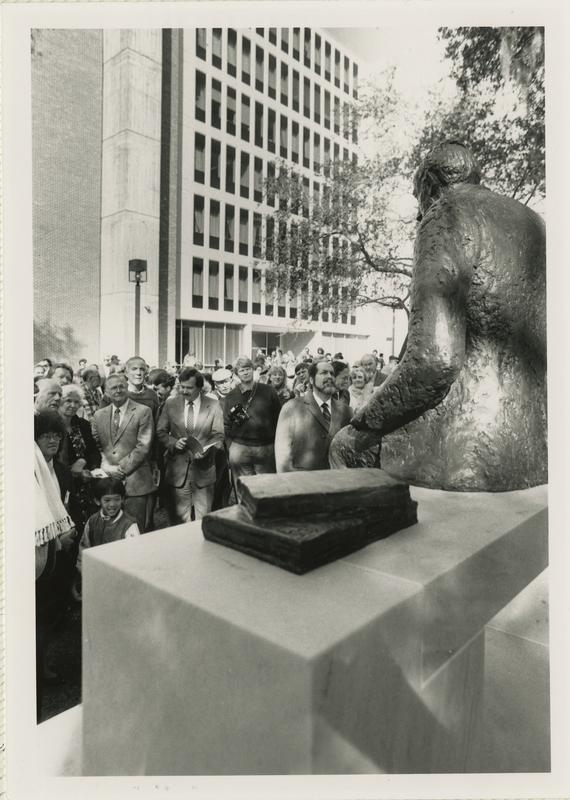 Crowd Gathered in Front of Paul A. M. Dirac Statue for Dedication Ceremony, 1989