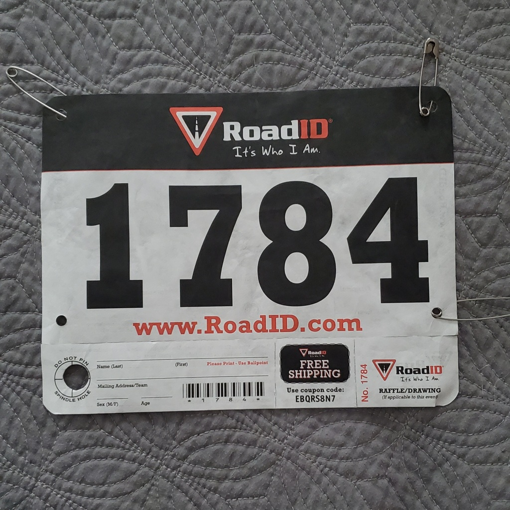 My number from the very first 5k I ever ran.