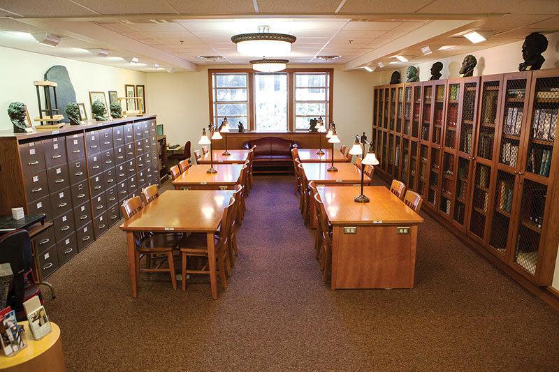 The Special Collections and Archives Research Center, a room with shelves of books and tables for patron use.