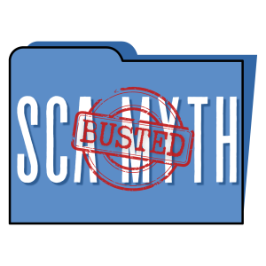 "Graphic of a manila folder that reads ""SCA MYTH: Busted"""