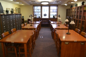 Interior of the Special Collections & Archives Reading Room at Florida State University
