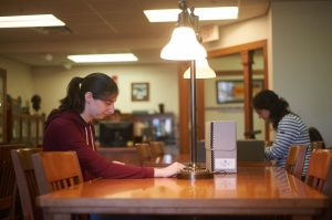 Researchers using the Special Collections & Archives Reading Room at Florida State University